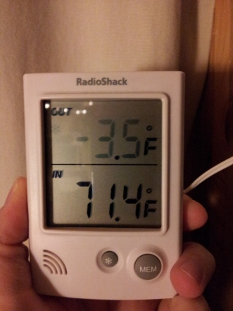 my thermometer yesterday late afternoon