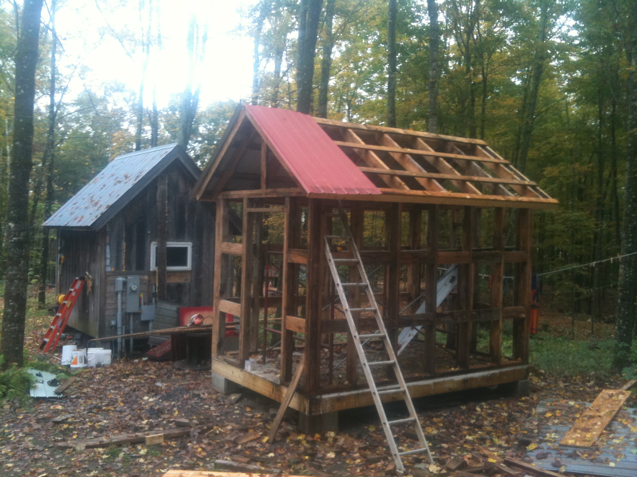 The next shed tiny house adventures for Shed roof tiny house