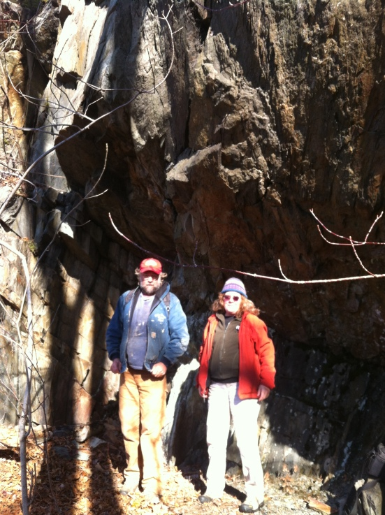 Mom and Steve in Hawkins Ledge Overhang