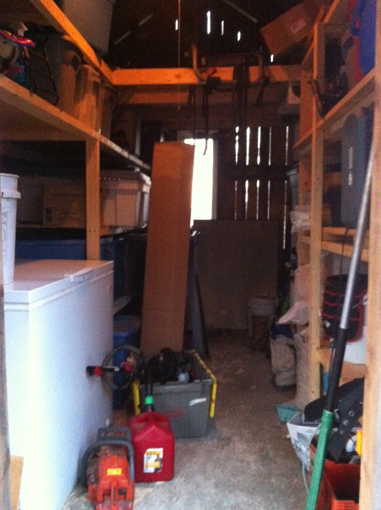 My shed full to the brim with tools and toys, can you imagine if all that crap was in my tiny house!?!