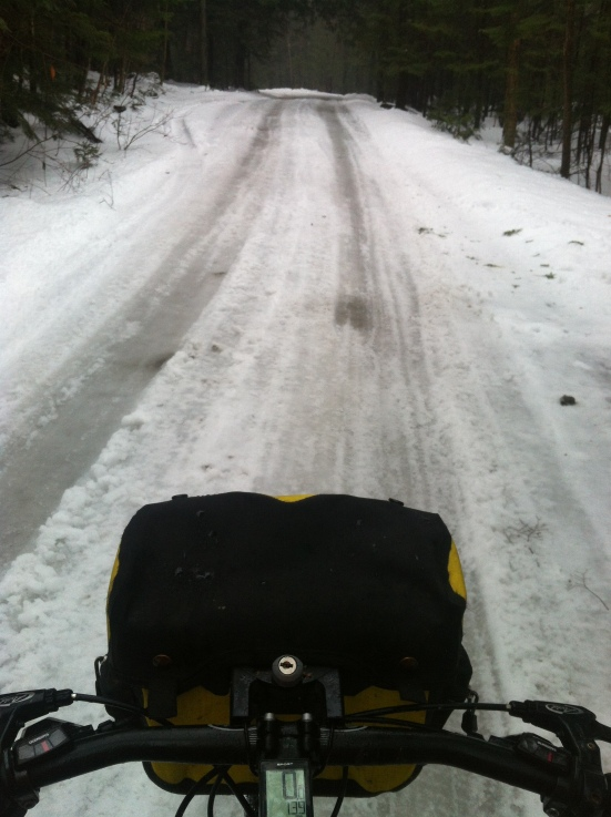 Went better on glare ice in the wheel track than the glare ice with 3 inches of slush in the middle of the road!