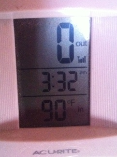 even on a warm afternoon, I keep my house toasty!