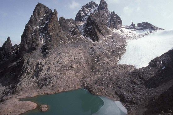 Glacial Lake on Mount Kenya - I didn't die!